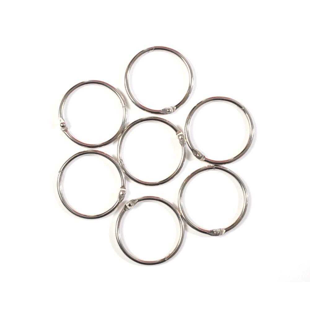 yodaliy Bathroom Hook Rings,12Pcs/Set Metal Circle Hook Rings Curtain Hanging Hanger Rings Bathroom Hooks Curtain Shower Glide Hanger Ring,Silver(12PC)