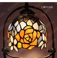 Modern design popular Stained glass flower shade table lampTiffany table lamps for home decoration