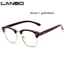 LANBO женские мужские модные очки с прозрачными линзами мужские очки с защитой от радиации компьютерные зеркальные очки Рамка 3016(Китай)