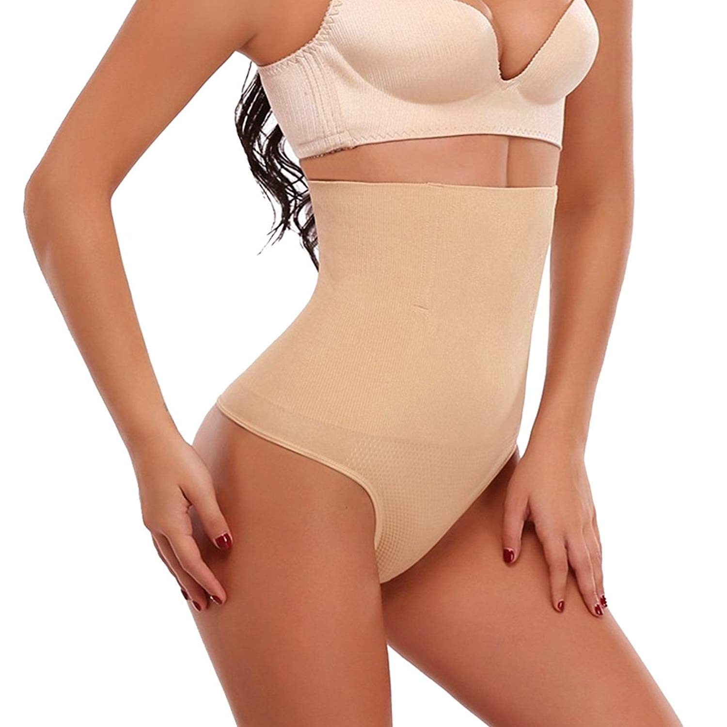 58f512f613097 Get Quotations · 3-5 Day Delivery High Waist Women s Thong Shapewear Butt  Lifter Tummy Control Panty
