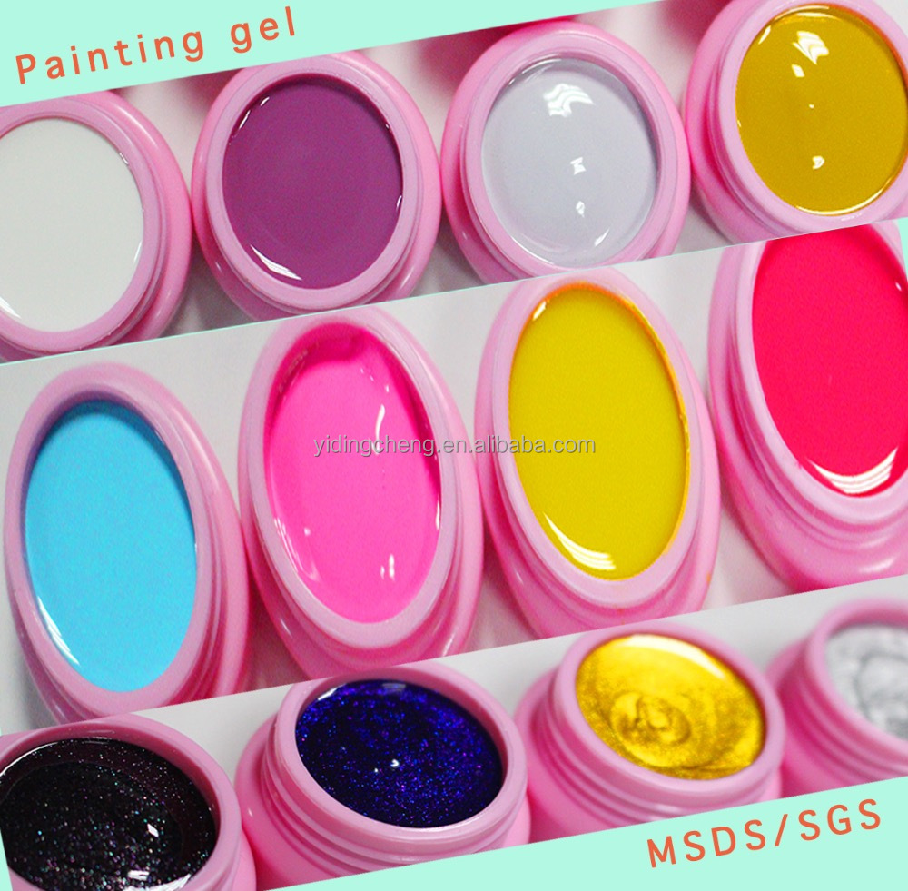 In Stock! Yidingcheng factory Wholesale Good Quality UV Nail Color Gel UV LED Art Paint Gel