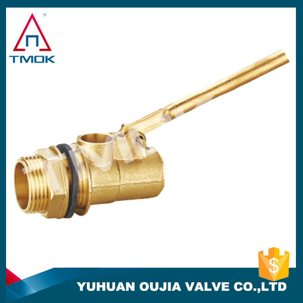 Surface is brass color with a long handle features floating ball valve on YU HUAN OU JIA
