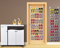 Assembly slippers wall hanging shelf multilayer shoe rack behind the door storage shoe stand holder