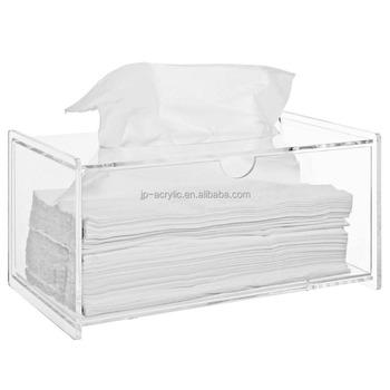Clear Acrylic Bathroom Facial Tissue Dispenser Box Cover
