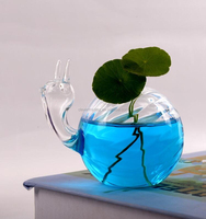 tortoise shape glass plant terrarium small flower vases