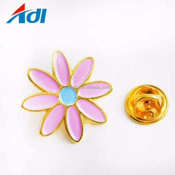 Custom Cartoon Soft Enamel Flower Lapel Pin with Lapel Pin Boxes