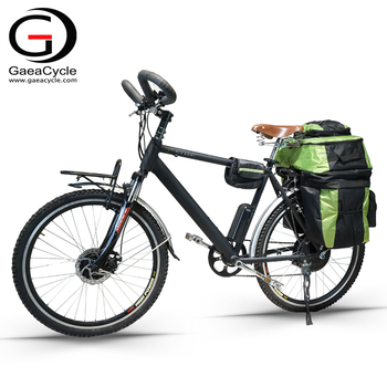 Gaea suspension fork electric mountain bike with travel luggage bags enduro ebike frame bycycle