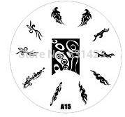 2015 new A Series A15 Nail Art Polish DIY Stamping Plates Image Templates Nail Stamp Stencil