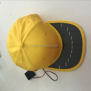 2017 New Products Solar hat, mobile phone charger