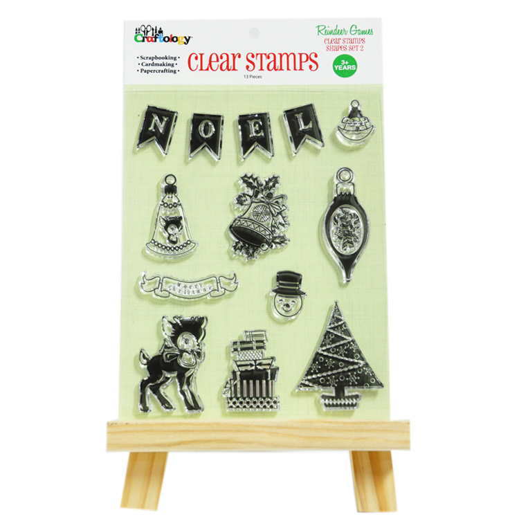 2017 13pk high quality TPR transparent marketing gift clear stamp