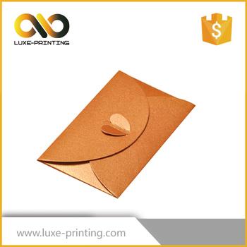 2017 best quality cardboard gift envelopes fancy envelope design