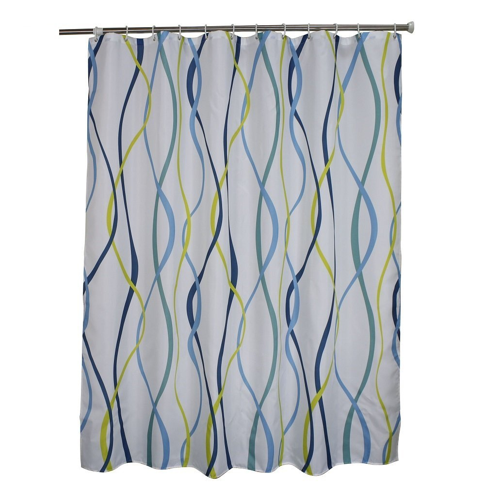 Get Quotations Ufaitheart 36 X 72 Small Shower Curtain Stall Curtains Fashion Wavy Striped Fabric