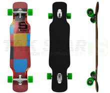 39 inch bamboo with fiberglass longboard skateboard complete