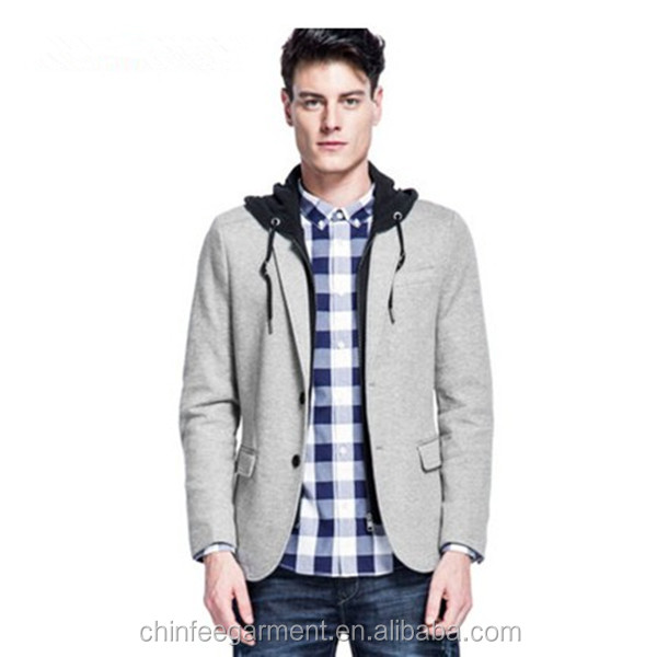 Newest Man Jackets With Hoodies Fashion Blazers