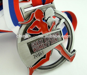 Custom metal running sports honor award medal
