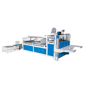 Semi-automatic Hot Melt Glue Packaging Machine/Folding Carton Box Gluing Machine