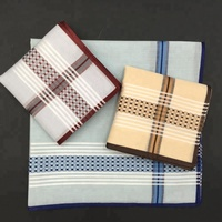 3 colors men's cotton jacquard advanced handkerchief