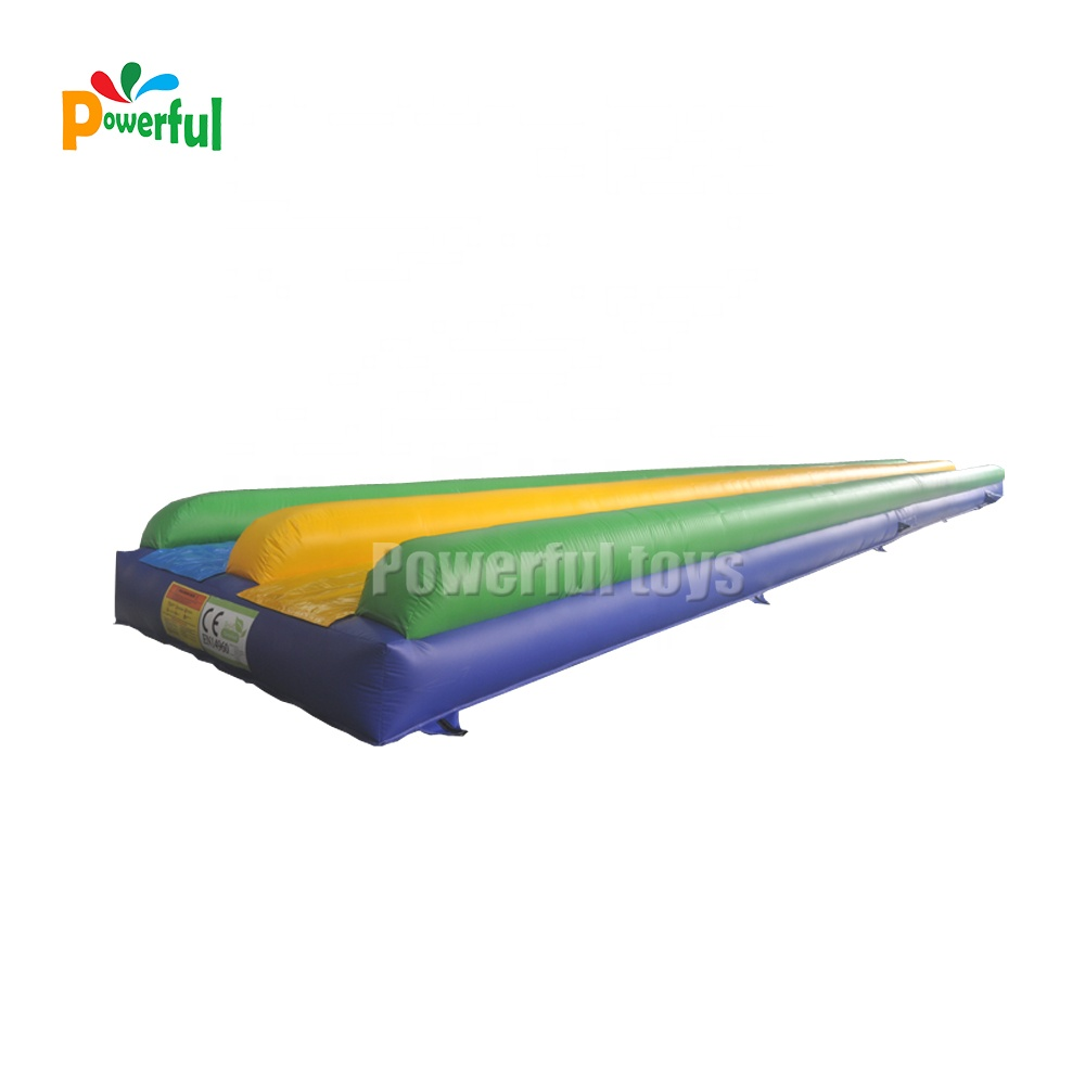 Commercial slip n slide inflatable slide into water pool