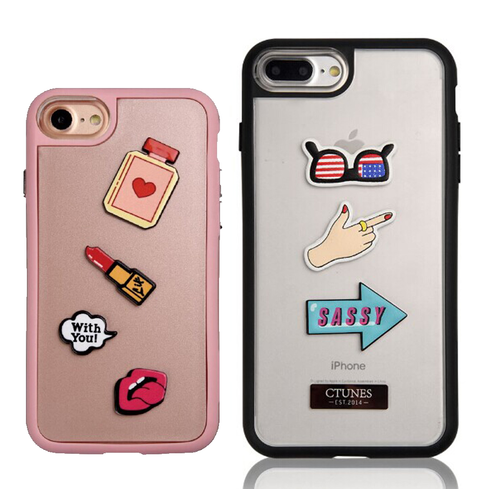 C&T OEM sticker rubber matte hard case cover for iphone 7 7 plus