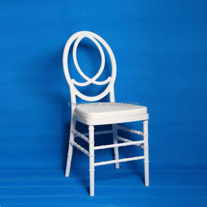 White PC resin Wedding Infinity Phoenix Chair with White Soft Cushion