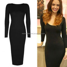 monroo Sexy low cut ladies long sleeve bodycon dress ladies designing dress