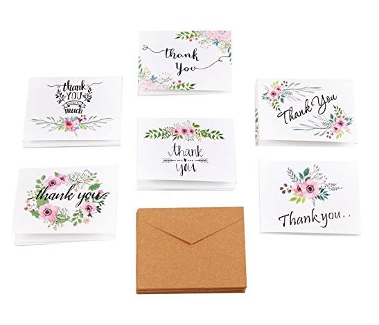 Terima Kasih Kartu Bunga Catatan Ucapan Untuk Pernikahan ...