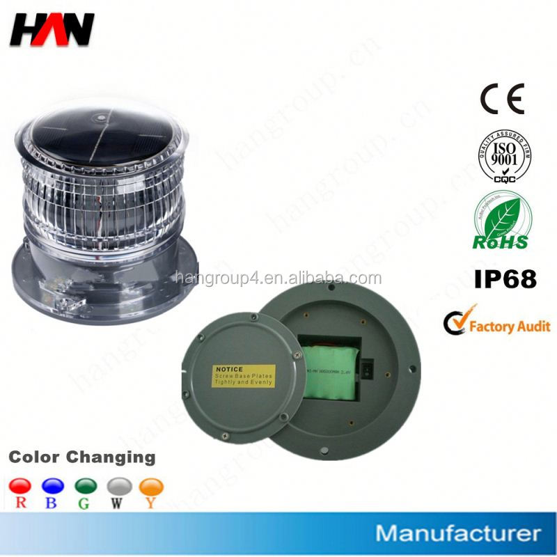 IP68 Led solar aircraft warning lights (Airport,Runway,coast,lighthouse,beacon,ship)