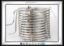 SUS 304 316 astm aisi standard welded spiral shell and tube heat exchanger stainless steel u tubing coil