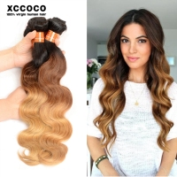 Grade 9A Virgin Hair 3 Tone Color Body Wave Wholesale Human Hair Extension In Dubai
