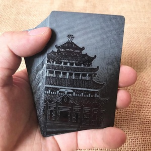 Custom Black Plastic Playing Cards Collection Black Diamond Poker Cards Standard Playing Cards