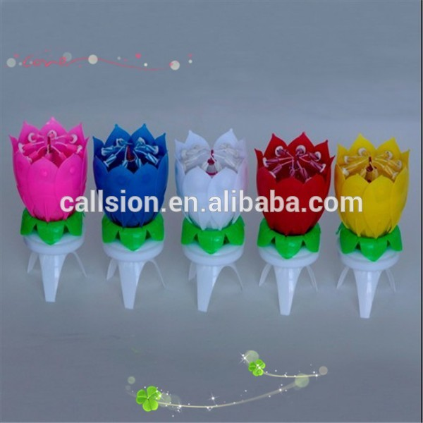 Durable mini firecrackers salutes fireworks music birthday candlewith music rotating and fireworks