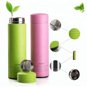 500ml Rubber Coated Stainless Steel Vacuum Flask, Travel Mug