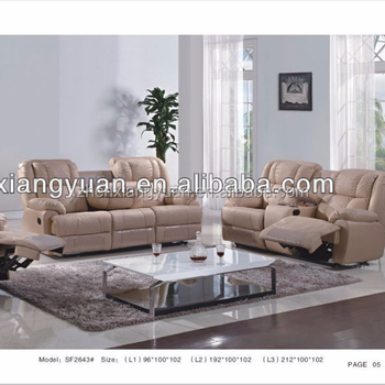 Living Room Furnitures Genuine Leather