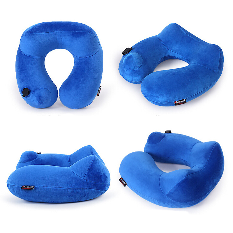 2017 comfort neck support travel pillow adjustable home travel U-pillow inflatable air pillow