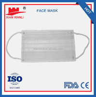 Surgical green nonwoven face mask with eye shield for hospital