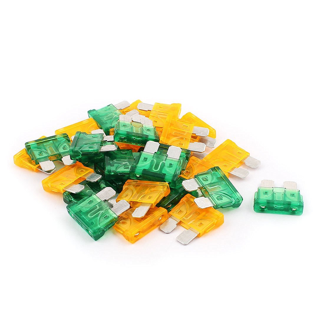 uxcell Car Vehicle Motorcycle SUV Mini Blade Fuse 30A 5A 30pcs Orange Green