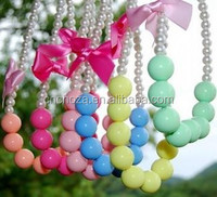 Z56084A Wholesale Cheap Yiwu Cordial Design Chunky Bubblegum Bead Necklace, Kids Necklace,Necklace Designs