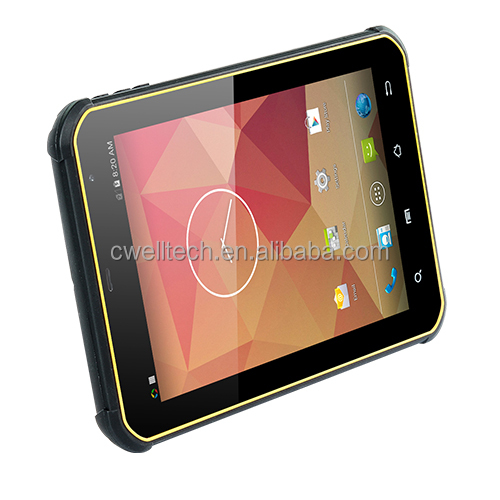 8 inch Gorilla Glass screen Quad core Android 4.4 WIFI GPS 3G Waterproof IP67 Rugged tablet pc QCOM P200