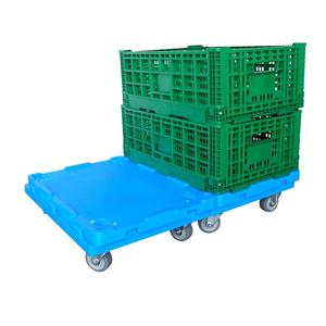 plastic material heavy duty 150 kg platform moving tools moving crate trolley with dolly