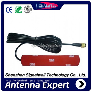 Free samples 174 to 230/474 to 858MHz Patch Type Car DVB-T Antenna with SMA male connector