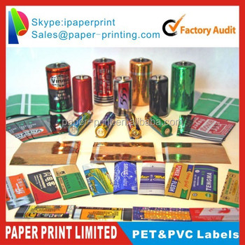Shrink Sleeves Bottle Label Colored Pvc Printed Heat Clear Waterproof Labels