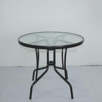 Malesia Rotondo Moderno Gambe In Metallo Tavolino Di Vetro Yt40 ...