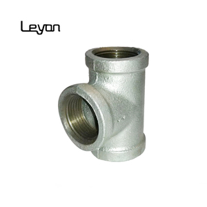 en10242 malleable tee pipe fitting eccentric reducer types tee FM/ UL bs standard malleable tee