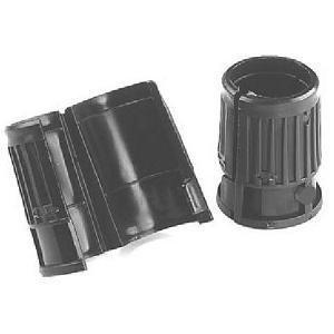 "ISS Wire Shelving Shelf Lock Clips for 1"" Post, Shelving Sleeves, Plastic, Black, 8 Pcs / Pack"