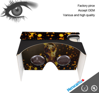CE Certificate Virtual Reality Cardboard Google 3D Glasses Google Cardboard With OEM Service