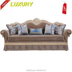 fabric moroccan solid wood sofa set contrast color fabric sofa set AMF9142