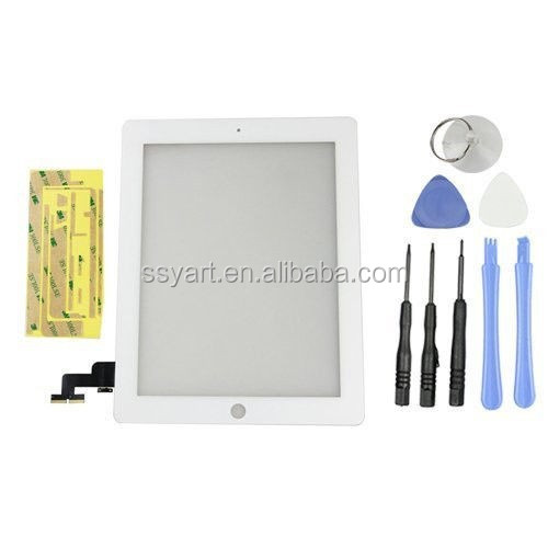 WHOLESALE BEST PRICE White Touch Screen Glass Digitizer Replacement Adhesive + Free Tools For <strong>iPad</strong> 2