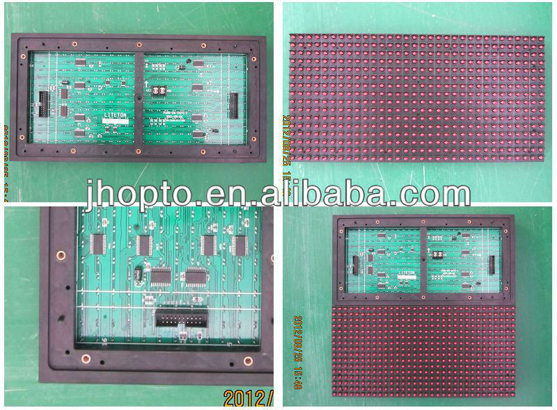 5000sqm per month single color P10 JHP10(R)-V806AW led display module pcb