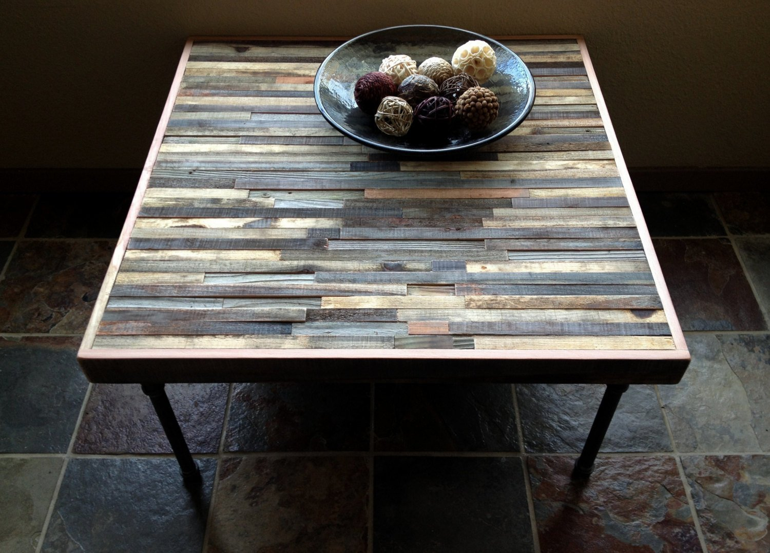 """40% Off SALE - 36"""" Barn wood Coffee Table - Industrial - Mid-Century - Modern - Contemporary - Rustic Zen with Steel Pipe Legs"""