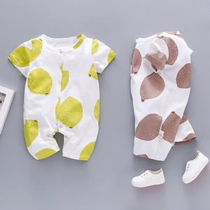 Bamboo Clothing Wholesale Toddler T Shirt 100% Cotton Printed Playsuits Unisex Rompers